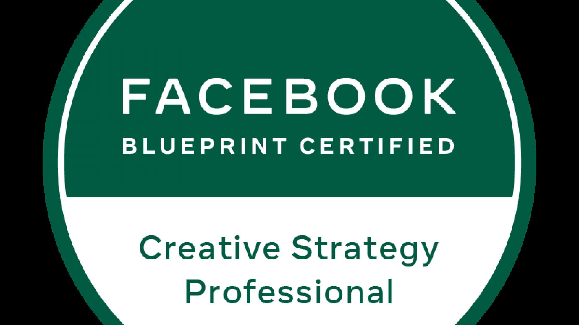 Facebook Certified Creative Strategy Professional di Stefano Falcone